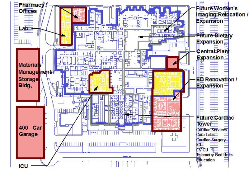 Medical Center Houston Map.Sterling Barnett Little Houston Northwest Medical Center Master Plan